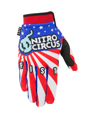 Fist Hand wear Nitro Circus stars and stripes Gloves