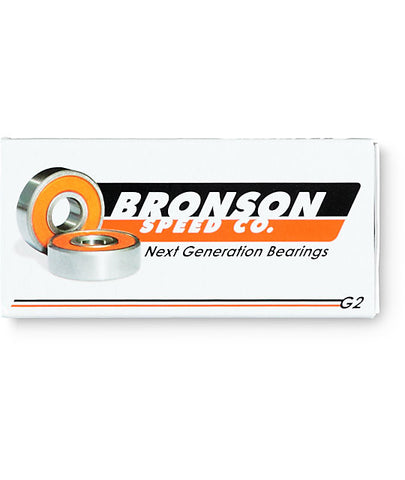 Bronson speed co g2 skateboard bearings, available from The Boardroom, BMX and Skateboard shop, Greystones, Wicklow, Ireland. BMX, Skate, Clothing, Shoes, Paint, Skateboards, Bikes, Parts, Ireland. #1
