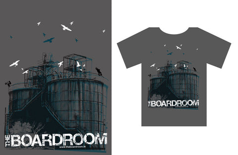 The Boardroom Industrial Shirt, available from The Boardroom, BMX and Skateboard shop, Greystones, Wicklow, Ireland. BMX, Skate, Clothing, Shoes, Paint, Skateboards, Bikes, Parts, Ireland. #1