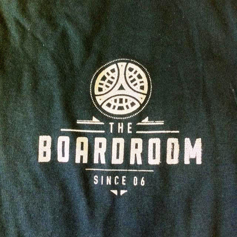 The boardroom since 06 tee, available from The Boardroom, BMX and Skateboard shop, Greystones, Wicklow, Ireland. BMX, Skate, Clothing, Shoes, Paint, Skateboards, Bikes, Parts, Ireland. #1