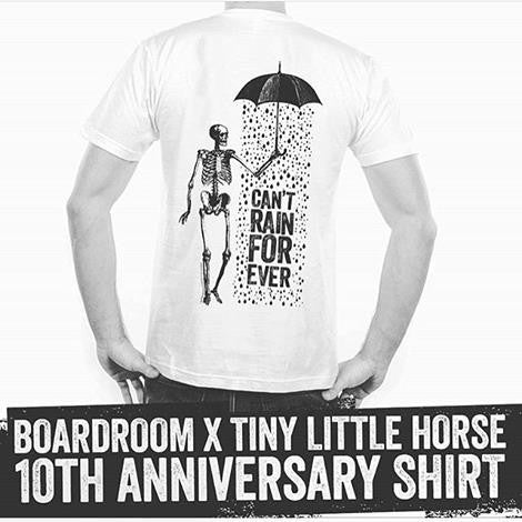 The Boardroom X Tiny Little Horse - 10 Year anniversary Tshirt - SOLD OUT