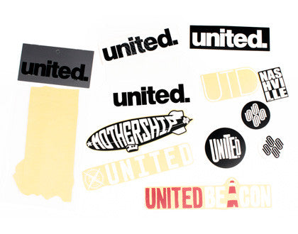 United Bike Co BMX Stickers, available from The Boardroom, BMX and Skateboard shop, Greystones, Wicklow, Ireland. BMX, Skate, Clothing, Shoes, Paint, Skateboards, BMX Bikes, Parts, Ireland #1.