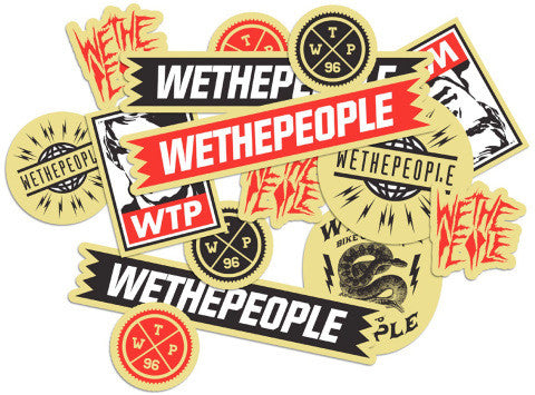 We The People BMX Stickers, available from The Boardroom, BMX and Skateboard shop, Greystones, Wicklow, Ireland. BMX, Skate, Clothing, Shoes, Paint, Skateboards, BMX Bikes, Parts, Ireland #1.