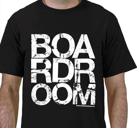 The Boardroom Block Logo T Shirt, available from The Boardroom, BMX and Skateboard shop, Greystones, Wicklow, Ireland. BMX, Skate, Clothing, Shoes, Paint, Skateboards, Bikes, Parts, Ireland. #1