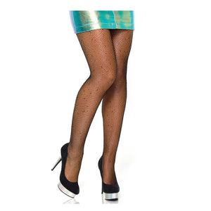 LA Rhinestone Fishnet Tights