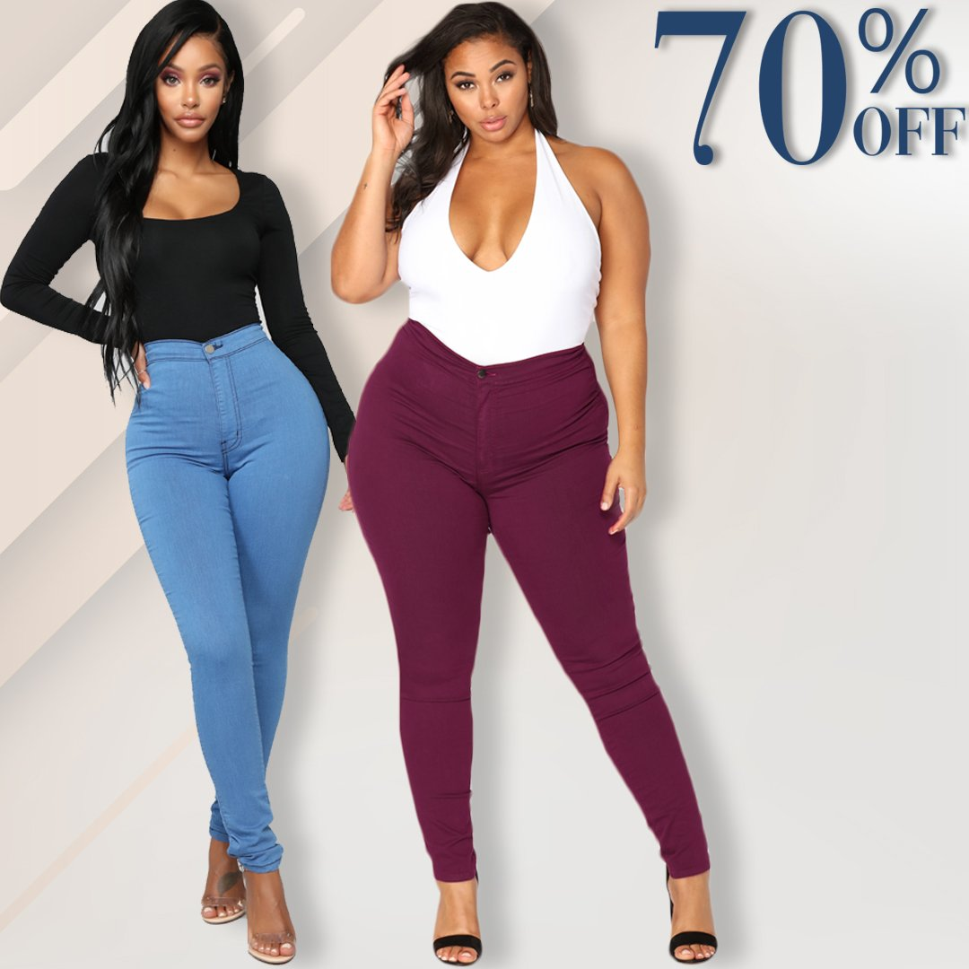 Luxe Stretch High Waist Tummy Booty Slimming Butt Lift Plus-Size Denim Jeans Leggings