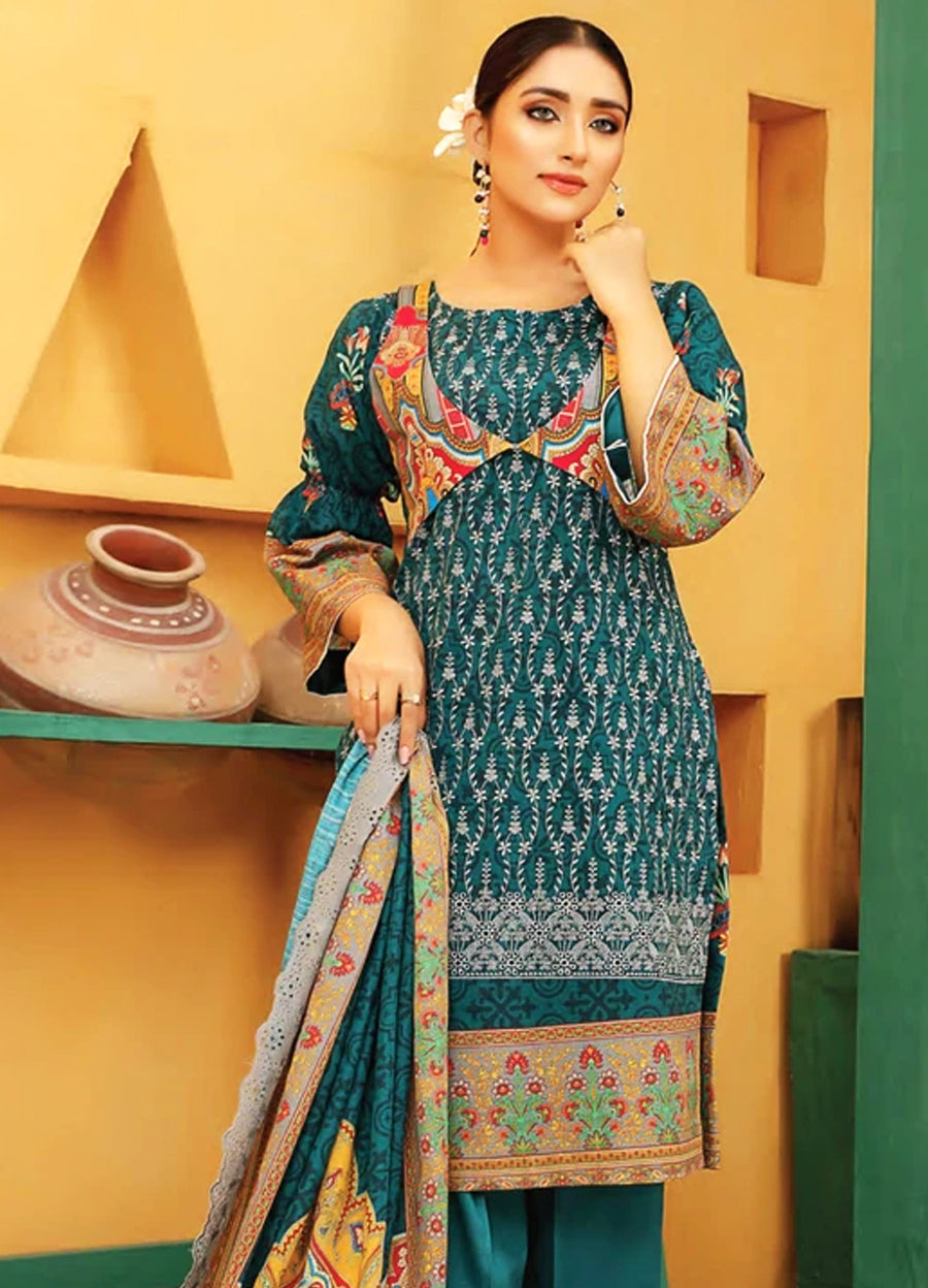 Lakhany LSM Embroidered Trouser Unstitched EB-2090