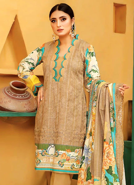 Lakhany LSM Embroidered Trouser Unstitched EB-2091