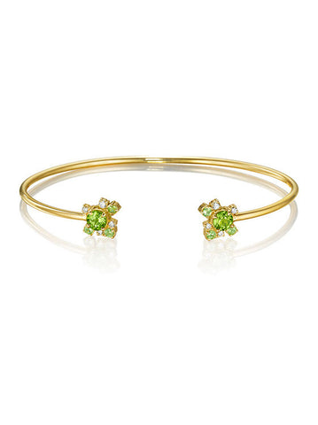 Melting Ice Peridot Cuff
