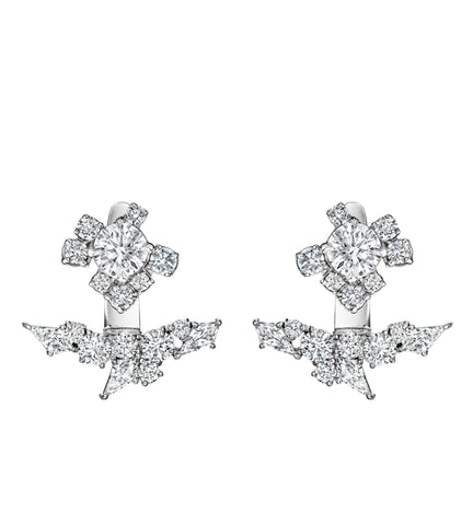 Melting Ice Diamond Stud and Jacket Set