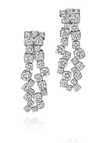 Melting Ice Diamond Long Earrings