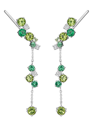 Melting Ice Tsavorite Earrings and Jacket Set