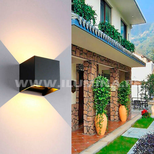 Aplique Cube LED Modern 12W