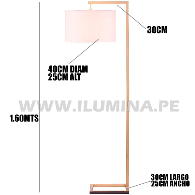 LÁMPARA DE PIE ARCO GOLD ALBA