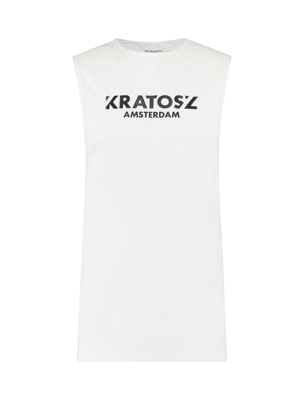Uranus Sleeveless Shirt Wit-Kratosz