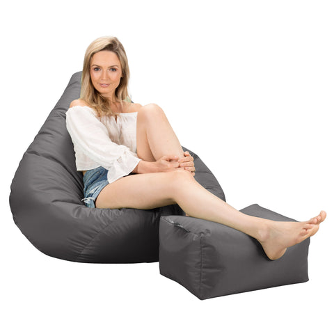 Cuddle Up Bean Bag Chair - Interalli Wool Biscuit