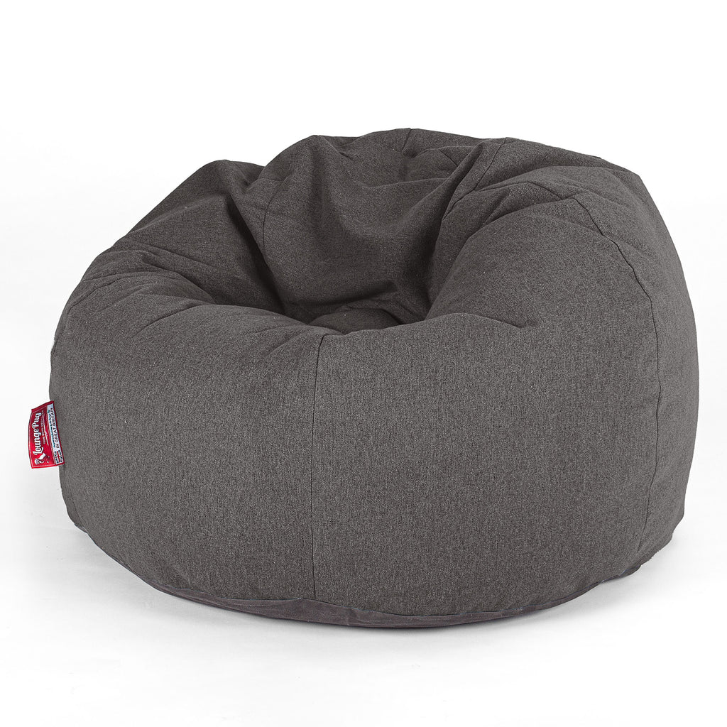 CloudSac Kids' - Memory Foam Giant Children's Bean Bag - Interalli Wool Grey