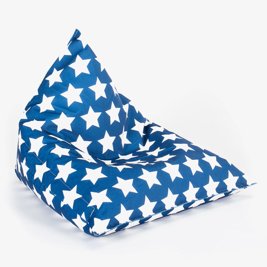 Childrens Pod Bean Bag - Print Blue Star