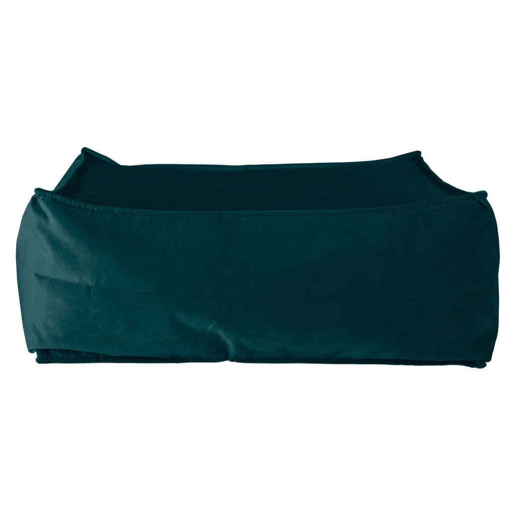 CloudSac 100 - The Memory Foam Footstool - Velvet Teal