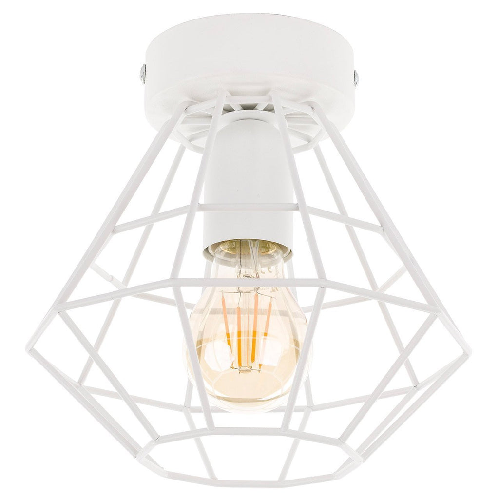 GEOMETRIC Semi Flush Ceiling Light - White