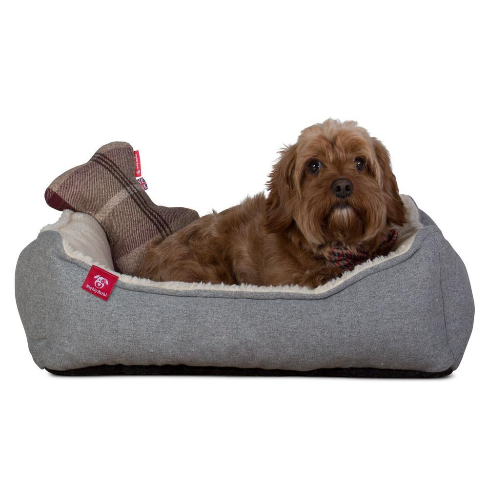the-bone-bone-shaped-pillow-for-on-dog-beds-tartan-mulberry_3