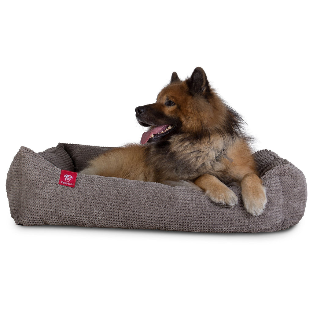 The Nest - Orthopedic Memory Foam Dog Bed - Pom Pom Charcoal Grey
