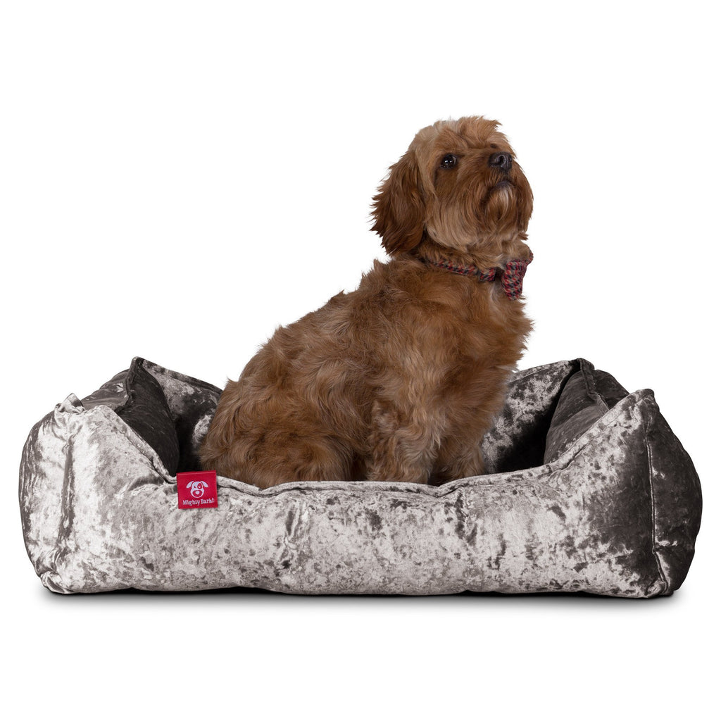 The Nest - Orthopedic Memory Foam Dog Bed - Glitz Silver