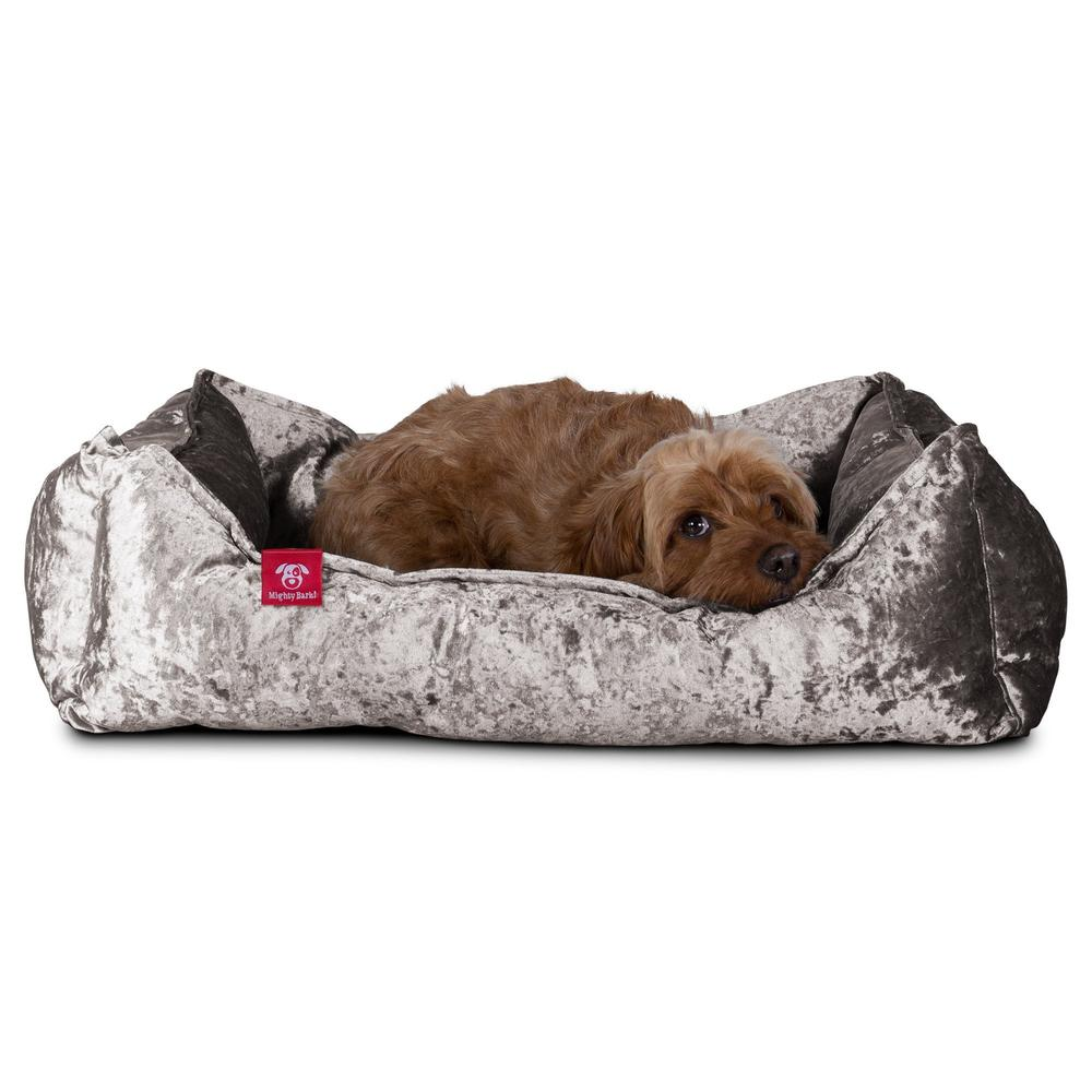 the-nest-orthopedic-memory-foam-dog-bed-glitz-silver_4