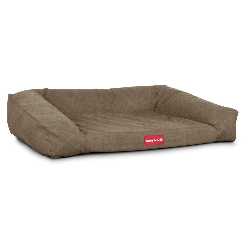 The Sofa - Orthopedic Memory Foam Sofa Dog Bed - Stonewashed Denim Earth