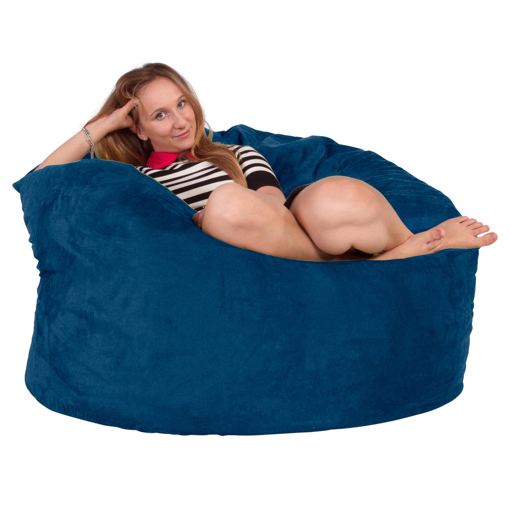 Lounge Lizard lounge lizard giant memory foam bean bag chair blue_1