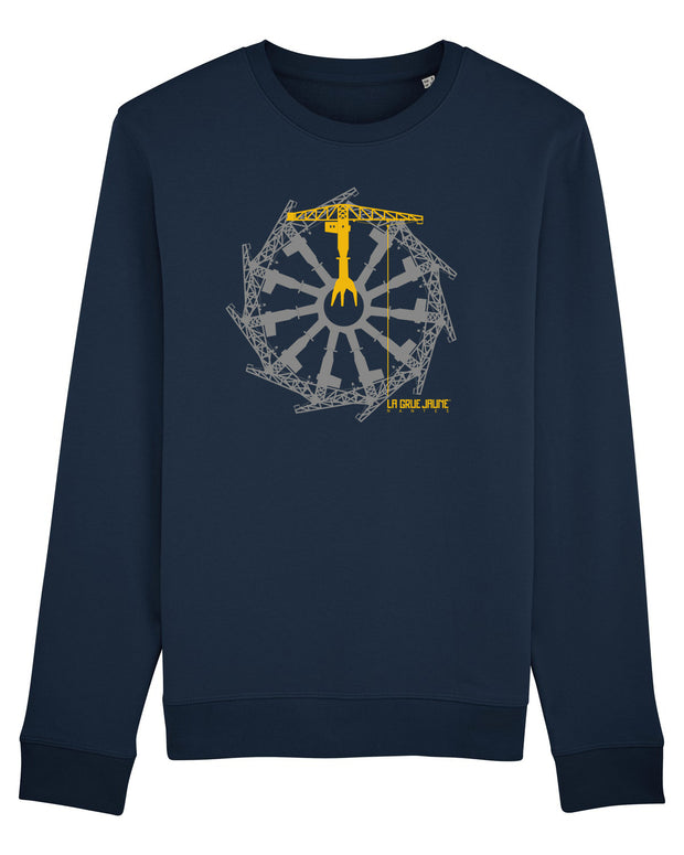 SWEAT Kid Grand logo La Roue des Grues - La Grue Jaune