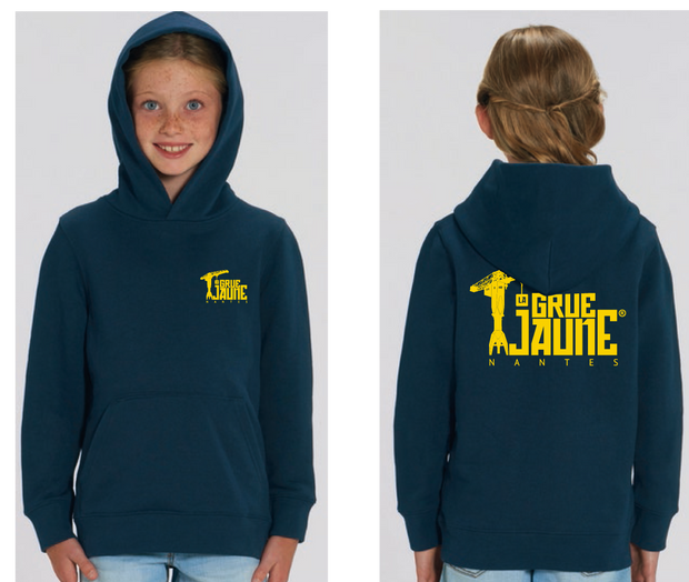 Sweat-shirt Capuche Kid Original La Grue Jaune - La Grue Jaune