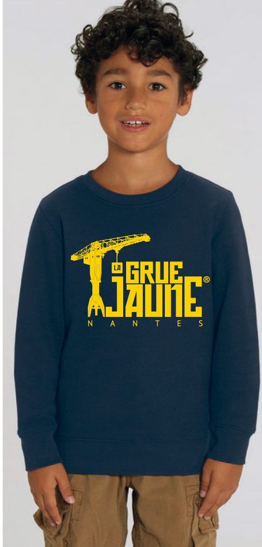 SWEAT Kid col rond Original - La Grue Jaune