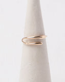 10K Gold Curved Flat Ring
