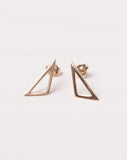 10K Gold Triangle Outline Studs