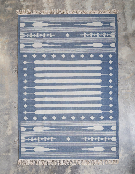 Arrow Head Flat Weave Cotton Rug
