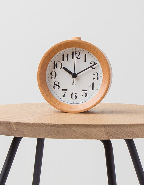 Beech Wood Alarm Clock