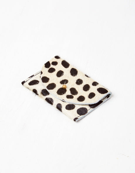Big Black Spots Pony Hair Card Holder