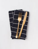 Black and White Grid Napkins