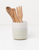 Celeste Speckled Utensil Holder