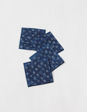 Set of 4 Indigo Dyed Cotton Coasters