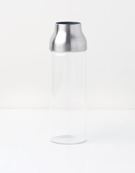 Stainless Steel and Glass Water Carafe