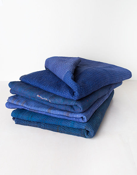 Indigo Over Dyed Quilt