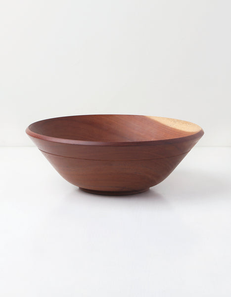 Large Mahogany Wooden Bowl