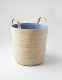Hand Woven Large Storage Basket with Handles Natural Sky