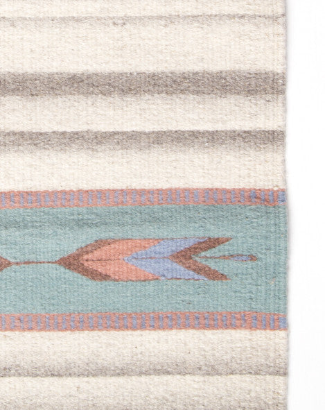 Wolves Within Pastel Navajo Wool Rug