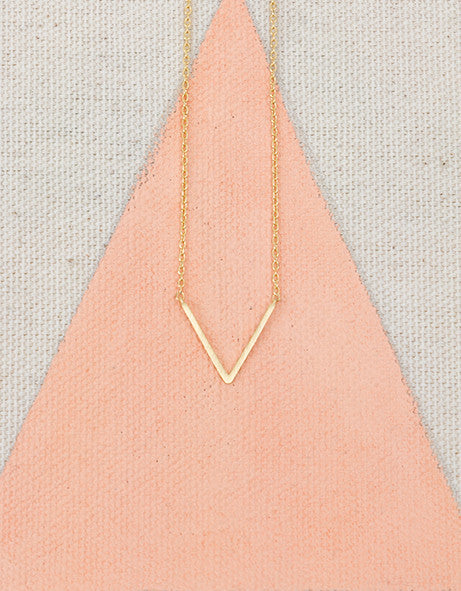 Petite Triangle Necklace