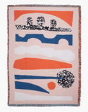 Psychotropic Sunset Cotton Throw