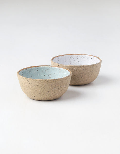 Raw Celeste Speckled Small Serving Bowls Melissa and Sam