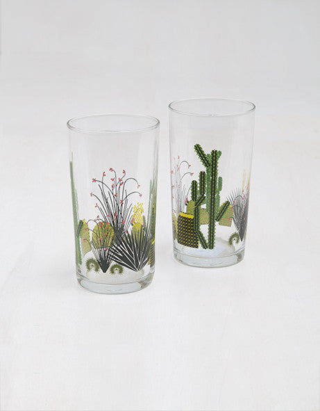 Set of 2 Cacti Glasses